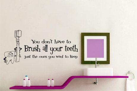 Keep Your Teeth Sticker