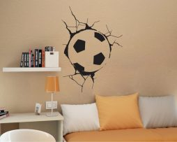 Soccer Ball in Wall Sticker