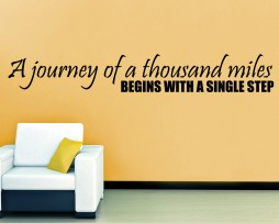A Journey Quote Sticker