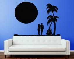 Couple on the Beach Sticker