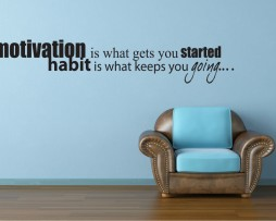 Motivation is What Gets You Started Sticker