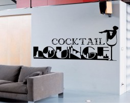 Cocktail Lounge Sticker