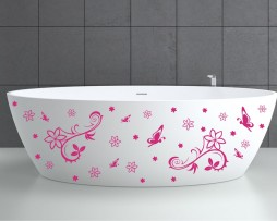 Bathtub Design Decal #1