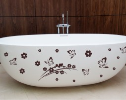 Bathtub Design Decal #2