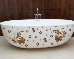 Bathtub Design Decal #10