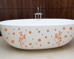 Bathtub Design Decal #12