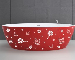 Bathtub Design Decal #14