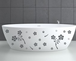 Bathtub Design Decal #15