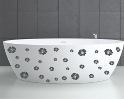 Bathtub Design Decal #17