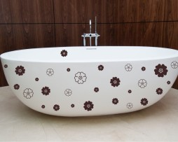 Bathtub Design Decal #18