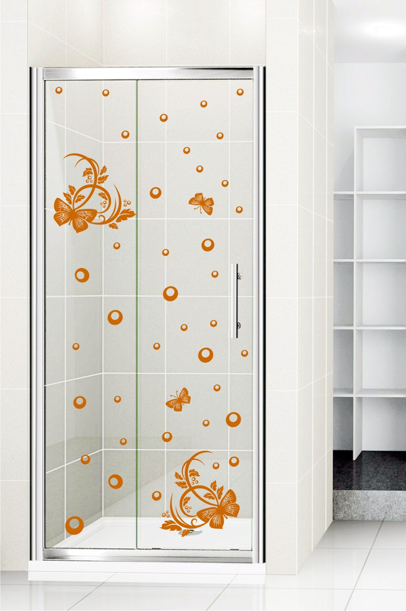 Shower door vinyl decal 10