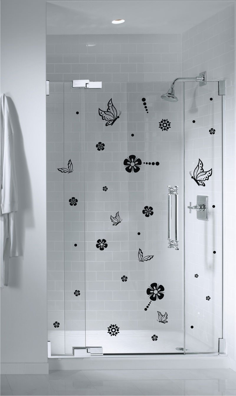 Shower door vinyl decal 14