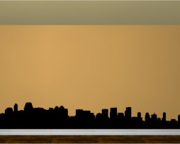 Calgary Skyline Sticker