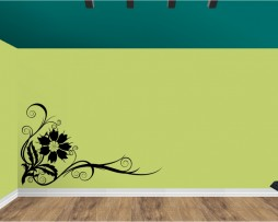 Flower Corner Design Sticker