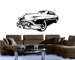Retro Car Design Sticker