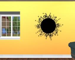 Abstract Swirls Design Sticker