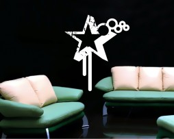 Abstract Star Design Sticker