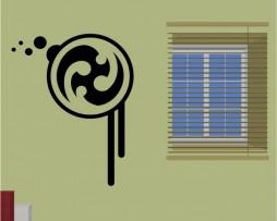 Abstract Swirl Design Sticker