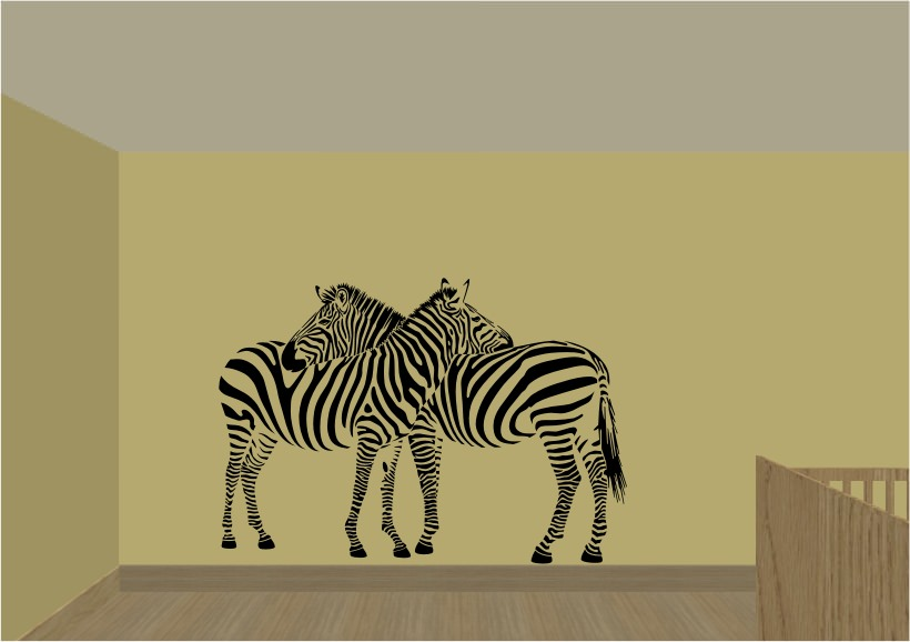 African Wall Sticker Art For Lounge Room