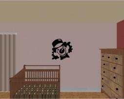 Clown Design Sticker
