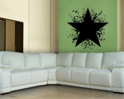 Abstract Star Pattern Design Sticker