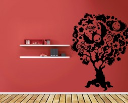 Abstract Tree Design Sticker