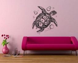 Abstract Turtle Design Sticker