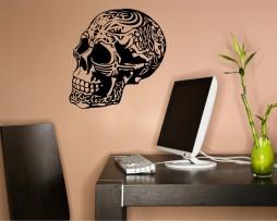 Ornate Skull Design Sticker