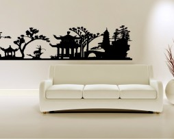 Asian Garden Landscape Sticker