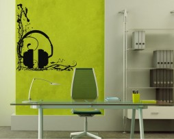 Abstract Headphones Sticker