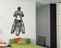 Biker Design Sticker