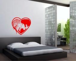 Heart Kiss Sticker