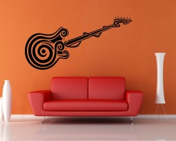 Abstract Guitar Design Sticker