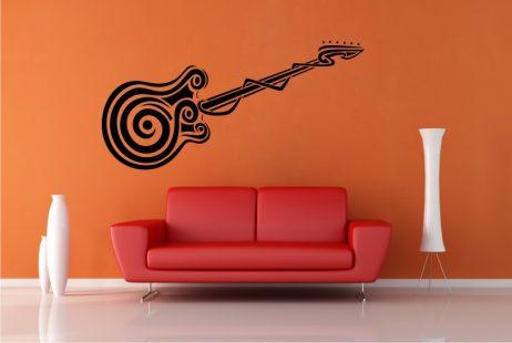 Abstract Guitar Design Sticker