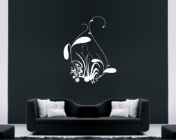 Abstract Grass Design Sticker