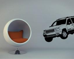 Modern 4x4 Car #2 Sticker