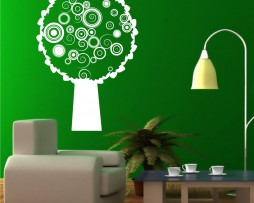 Abstract Circles Tree Sticker