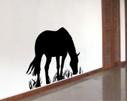 Horse Eating Grass Sticker