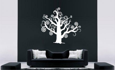 Tree Branch Swirls Sticker