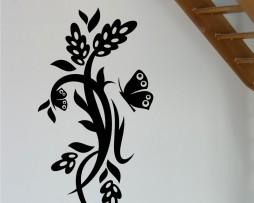 Butterfly Plant Design #10 Sticker
