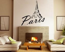 Paris Eiffel Tower Script Sticker