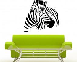 Zebra Turning Head Sticker