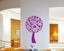 Abstract Lines Tree Sticker