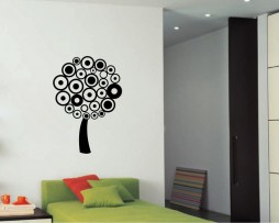 Tree from Circles Sticker
