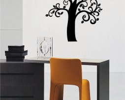 Curvy Branches Tree Sticker