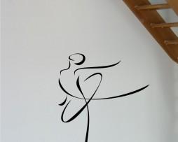 Woman Dancing Contour Design Sticker
