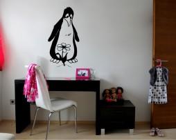 Penguin and Flower Sticker