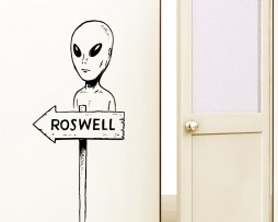 Alien Sign Post Sticker