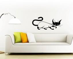 Contour Cat Design #3 Sticker