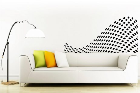 Abstract Wave Circles Sticker